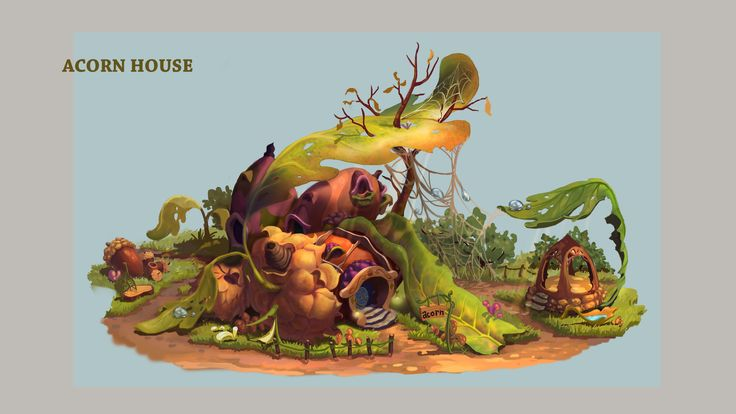 ArtStation - A house built of acorns, elwie _