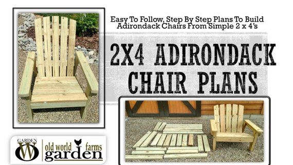 Adirondack Chair Plans 2x4 DIY Adirondack Chair Plans - Simple Plans for a Comfortable, Beautiful and I...
