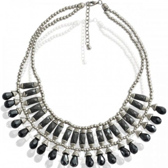 Necklace black sparkle