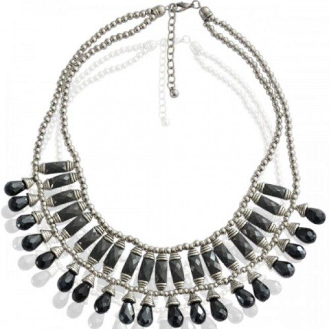 Necklace black sparkle