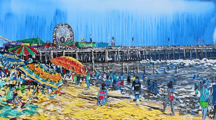 Brooke Harkerè un artista contemporanea americana residente a Los Angeles. I suoi dipinti di paesaggi urbani sono caratterizzati da pennellate in inchiostro, acrilico e olio su tela per rappresentare scene urbane e costiere. Il modo di dipingere di Harker, si affida al disegno e al colore e ci catapulta in una dimensione irreale ma allo stesso tempo realistica.