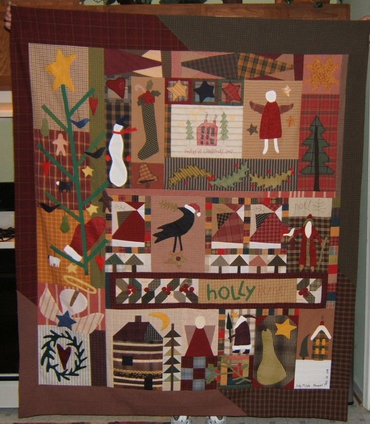 Folk Art Quilt Ideas : I can never get enough of Cheri Payne Saffiote folk art quilt designs. Simply the best ...