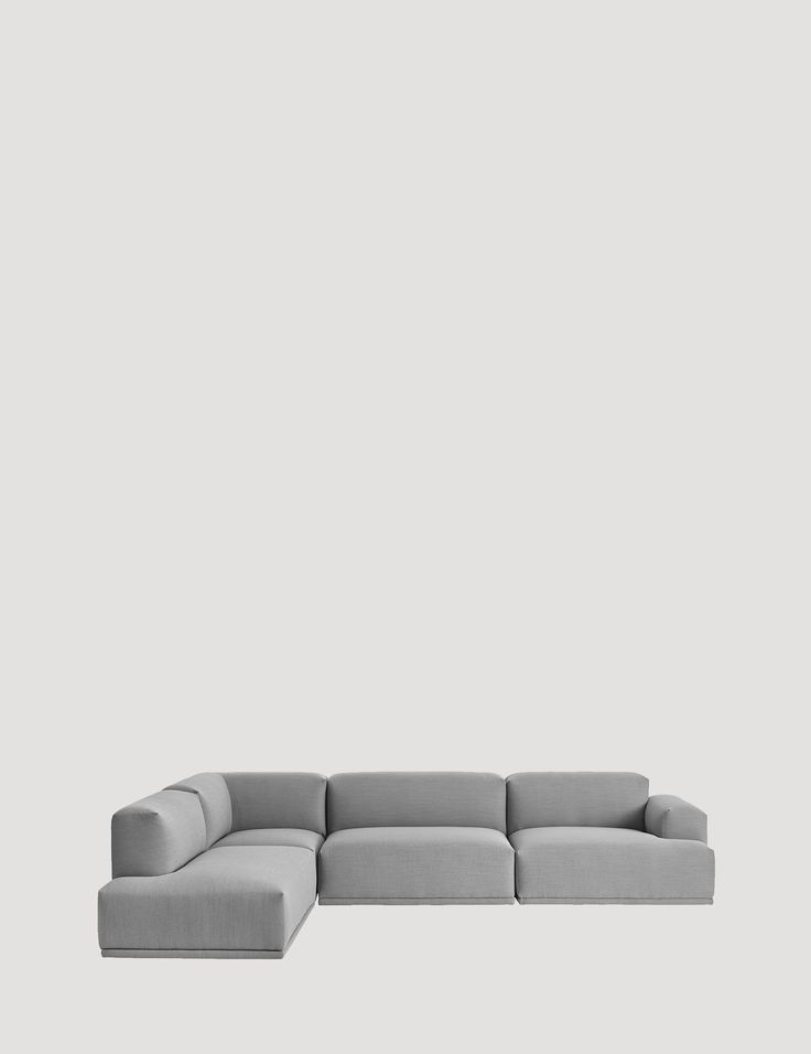 Clear lines and precise proportions give the CONNECT a modern, yet timeless Scandinavian look. The sofa's 11 different modules provide numerous possibilities for creating the optimal shape arrangement. Designed by leading Norwegian designers Anderssen & Voll, CONNECT is a comfortable sofa upholstered in a range of textiles from Kvadrat. #muuto #muutodesign