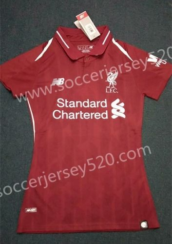 511fda819bc 2018-19 Liverpool Home Red Thailand Women Soccer Jersey AAA