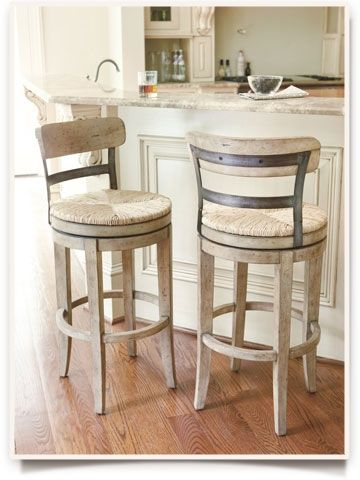 How to choose the right stools for your kitchen-- great info about measurements