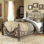 40 best wrought iron beds images on pinterest bedrooms for Wrought iron four poster bed frames