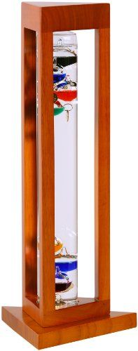 G.W. Schleidt YG924-N Galileo Thermometer Triangle Natural Finish Multicolored > Educational and fun thermometer invented 400 years ago by Galileo Galilei, a pioneer of modern physics and astronomy Measures 60 - 84 degrees Fahrenheit Multi-colored spheres with numerical tags suspended in crystal clear liquid Check more at http://farmgardensuperstore.com/product/g-w-schleidt-yg924-n-galileo-thermometer-triangle-natural-finish-multicolored/
