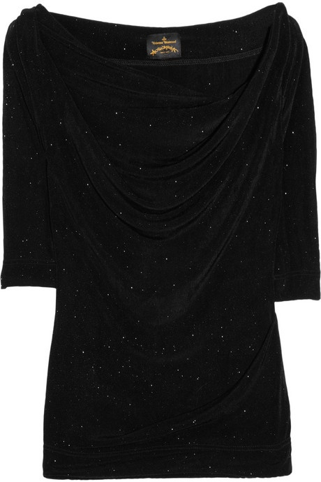 Vivienne Westwood Anglomania Donna glitter stretch-jersey top