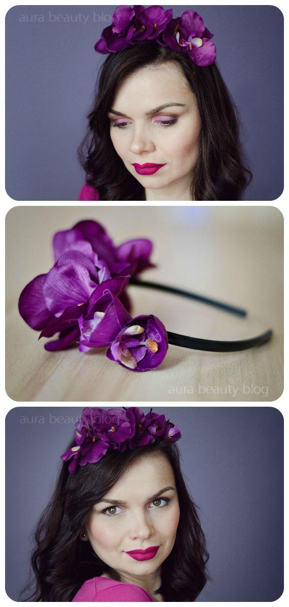 Spring Purple Makeup with DIY headband