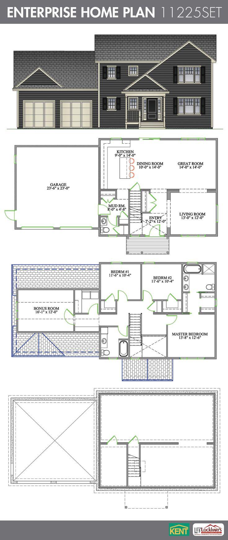 28 best 2 storey home plans images on pinterest home builder enterprise 3 bedroom 2 1 2 bath home plan features open