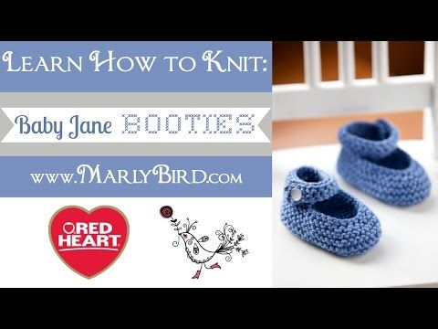 How to Knit Basic Mary Jane Baby Booties Part 1-Right Bootie (Work Flat) - YouTube