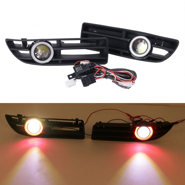 (61.88$)  Watch now - http://ai0s5.worlditems.win/all/product.php?id=32751941061 - LED Fog Lights For VW Bora JETTA TDI GLS GLX 1999 - 2004 Red Angel Eyes Convex Lens Light Front Bumper Grille Grill #9445