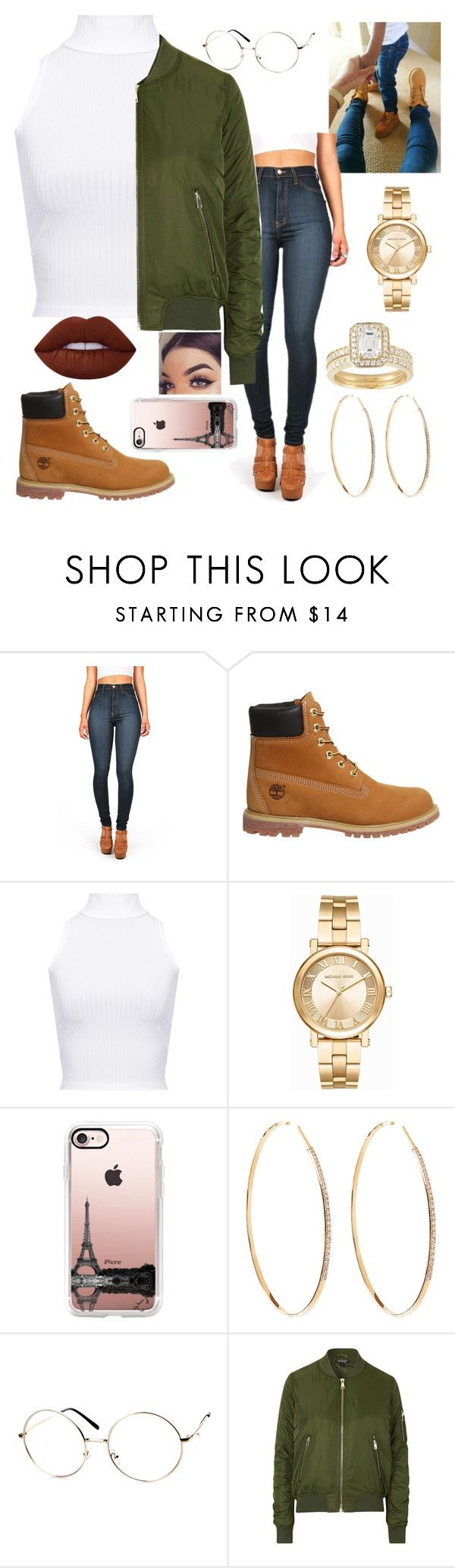 """Untitled #299"" by official-zay-outfits ❤ liked on Polyvore featuring Vibrant, Timberland, WearAll, Michael Kors, Casetify, Lana, ZeroUV, Topshop and Lime Crime"