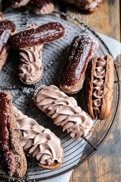 Triple Chocolate Eclairs - The perfect chocolate fix, and a recipe that is easy to make at home!! ++