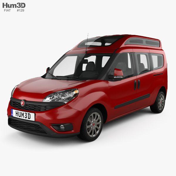 Fiat Doblo Combi L2H2 2015 3d model from Hum3D.com.