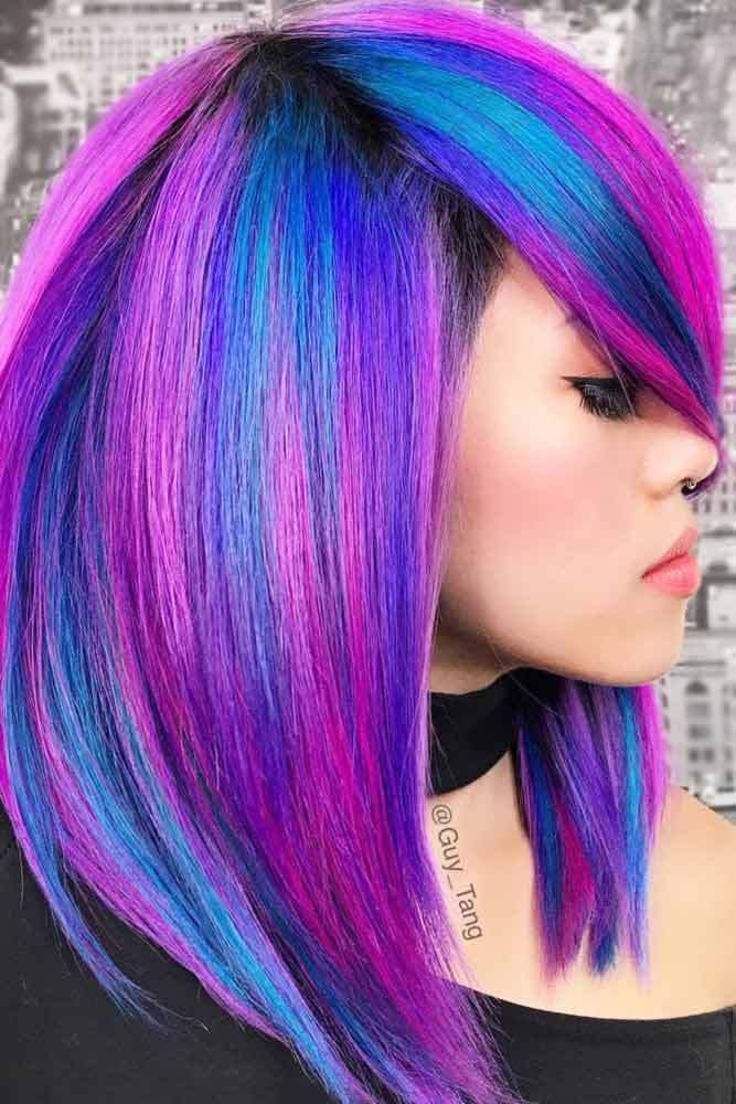 Really Hot Ideas To Style Shoulder Length Hair With Bangs Neon