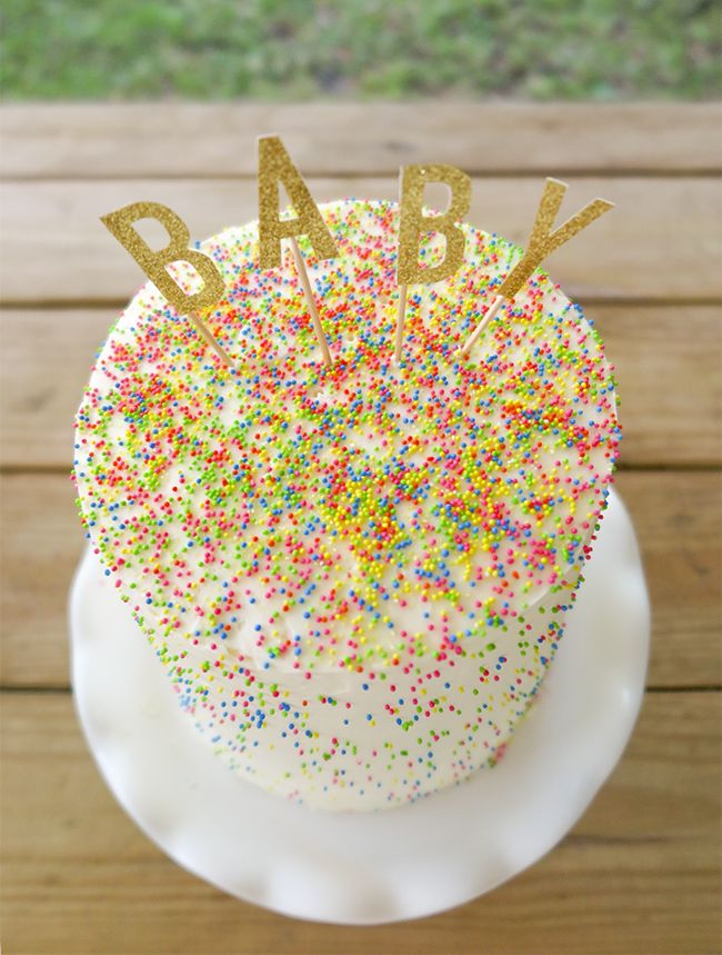 A Sprinkle-tastic Gender Reveal Cake! | ABD