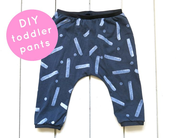DIY toddler pants with free pattern + stamp and sew tutorial - by kim welling