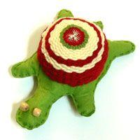 Webe und nähe eine Schildkröte