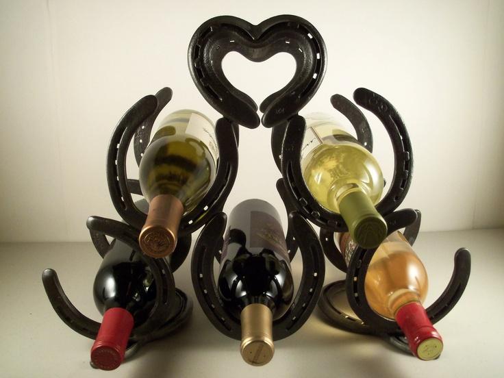 Horse Shoe Wine Rack with a Lot of Love  Made in by XXRanchArt, $78.00