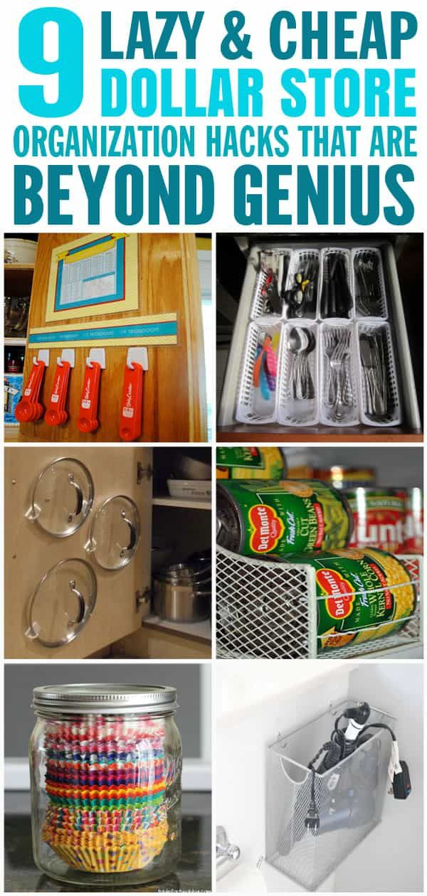 9 Lazy and Cheap Dollar Store Organization Hacks That Are Beyond Genius