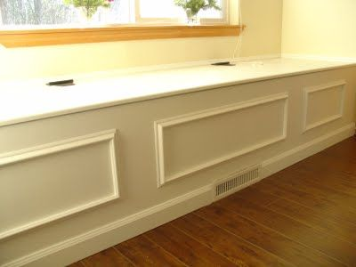 DIY Window Seat ~ Love the hinge top so that I can use as a toy
