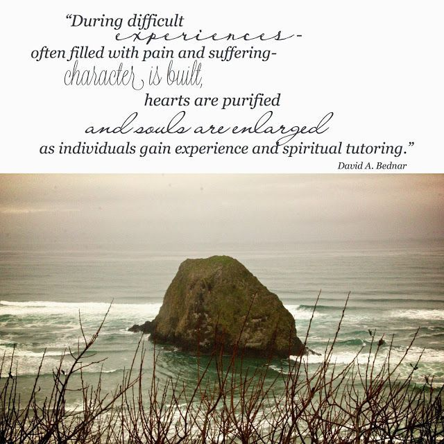 "LIKE and SHARE if you agree with Elder Bednar http://pinterest.com/pin/24066179230999303 that during difficult experiences character can be built, hearts purified, and souls enlarged. ... ""Difficulties allow us to change for the better, to rebuild our lives in the way our Heavenly Father teaches us, and to become something different from what we were—better than we were."" –President Thomas S. Monson:"