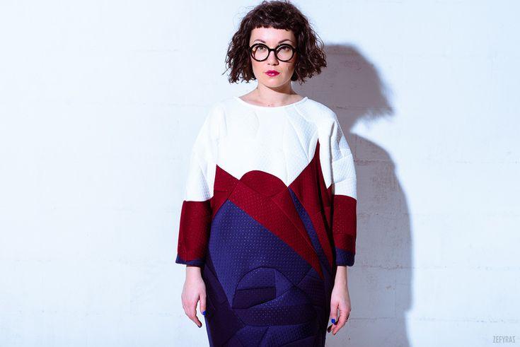 Winter Sea Dress #fashion #zefyras #zefyrasfashion #minimalist #sweater #colours #collection #details #dress #colorful