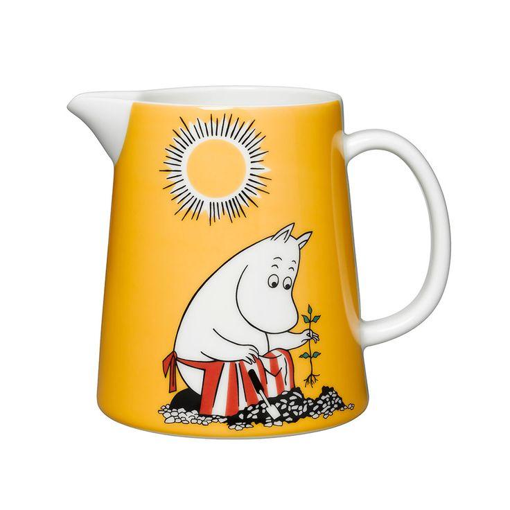 Moomin Jug Moomin Mama 1,1L, Yellow - Tove Slotte-Elevant - Arabia - RoyalDesign.com