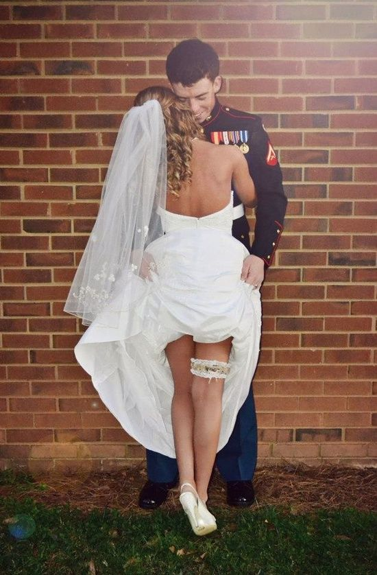Usmc wedding - this pose is so hot i love it!! I want a sexy pic like this to have in black and white and to put in our bedroom.