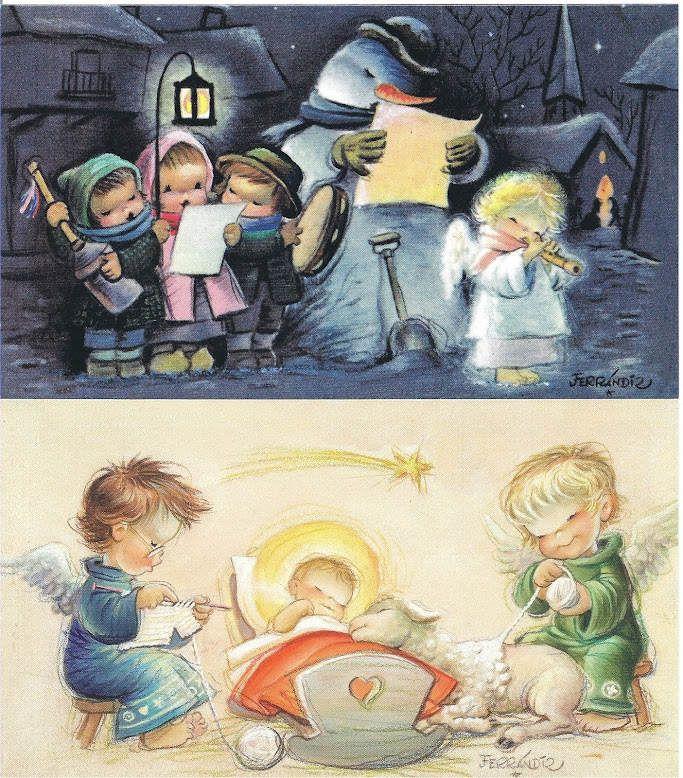postales navidad vintage Ferrandiz