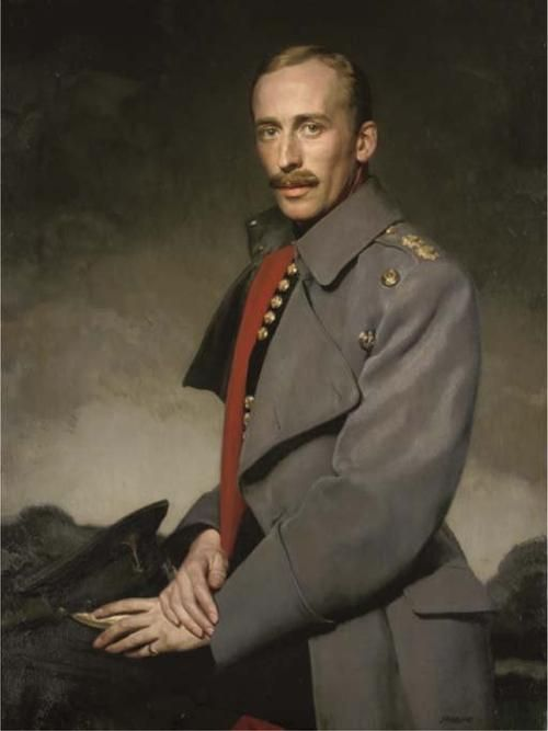 Portrait of an officer of the Welsh Guards by David Jagger (British 1891-1958)