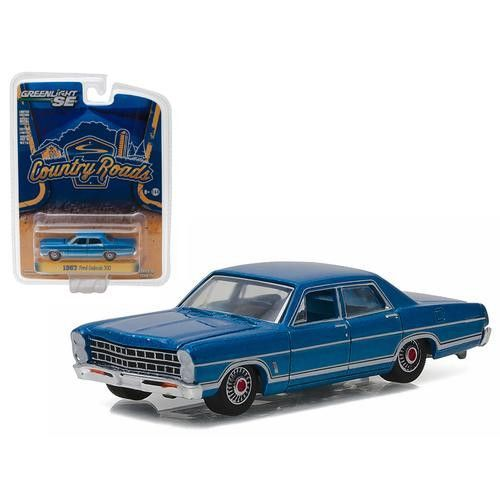 "1967 Ford Galaxie 500 Acapulco Blue ""Country Roads"" Series 15 1/64 Diecast Model Car by Greenlight"