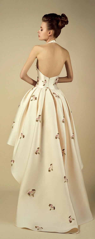 Fadwa Baalbaki Spring 2017 Couture Dresses   Deer Pearl Flowers
