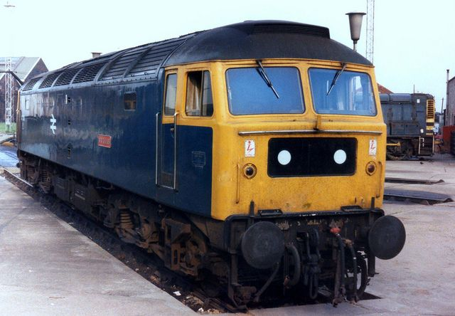 47090 (ex D1676) 'Vulcan' at Old Oak Common on 29th July 1978. Built at Crewe works and delivered on 16th April 1965. Named 'Vulcan' on 30th Nov 1965. Still in active service in 2014 as part of the Riviera Trains fleet.