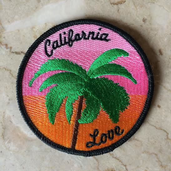 """P&C Poolside Iron on patch Dimensions 3 1/2"""" by 3 1/2"""" #patch #patches #California #californialove #palmtrees #palmtree #sunset"""