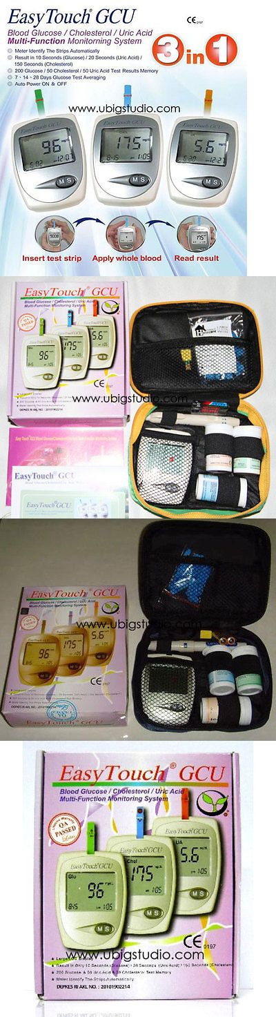 Cholesterol Testing: Easytouch Gcu Glucose Cholesterol And Uric Acid Blood 3 In 1 Monitoring Tester -> BUY IT NOW ONLY: $57.5 on eBay!