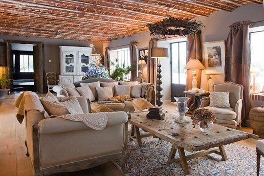 idée décoration intérieure maison de campagne | Intérieur maison ...