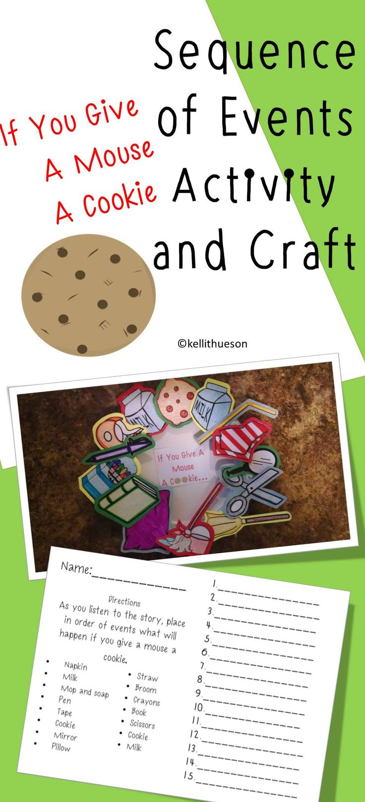 Fun activity and craft that helps teach sequencing of events or even cause and effect. https://www.teacherspayteachers.com/Product/If-You-Give-a-Mouse-a-Cookie-Sequence-of-Events-Activity-and-Craft-2795051