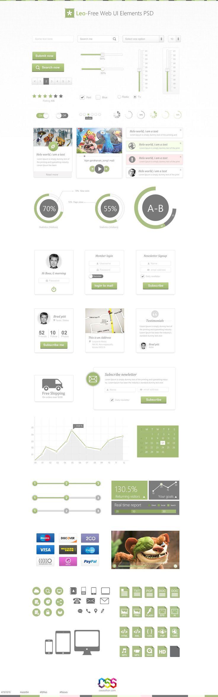 Leo – Free Web UI Elements