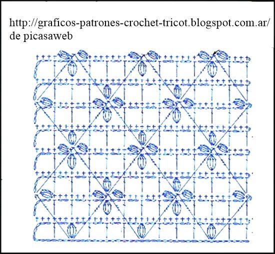 PATRONES=GANCHILLO = CROCHET  = GRAFICOS =TRICOT  = DOS AGUJAS: Points for crocheting with diagrams
