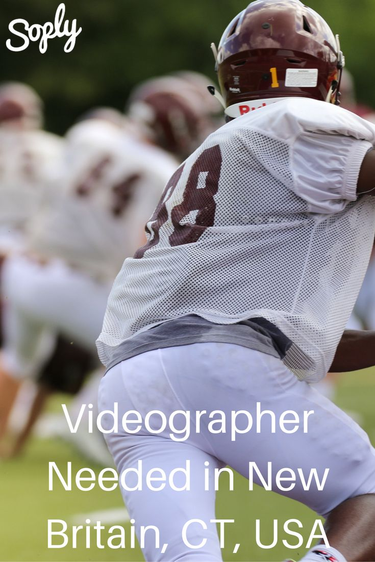 #Videographer needed to film #various #football #games in the New Britain, Connecticut, USA area. The videographer should start as early as October 23. See more info and apply through the pin!