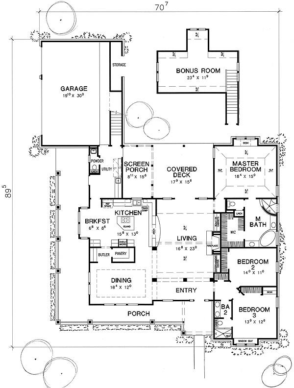 Farmhouse floor plans wrap around porch great houses with for Ranch style floor plans with wrap around porch