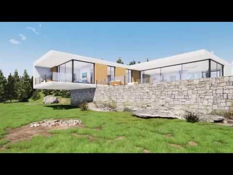Modern villa rendered in Twinmotion 2019 - YouTube