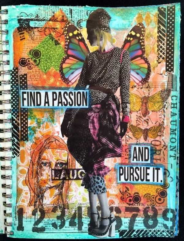 Mixed Media Magazine People Art Journal