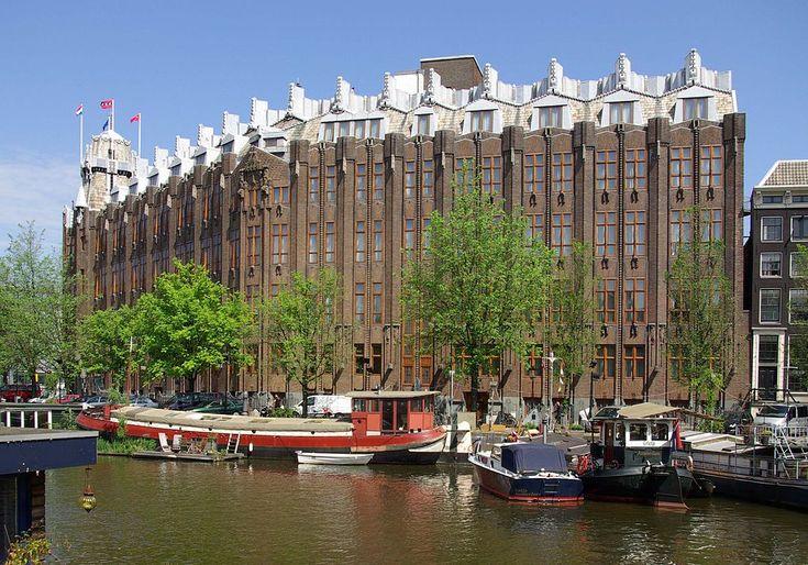 The Scheepvaarthuis, by architects Johan van der Mey, Michel de Klerk, Piet Kramer is characteristic of the architecture of the Amsterdam School.