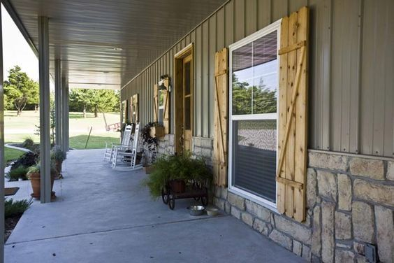 David's 42 x 60 Metal Building Home w/ Side Porches (HQ Pictures) | Metal Building Homes