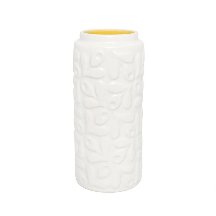 Discover the Orla Kiely Small Acorn Yellow Vase at Amara