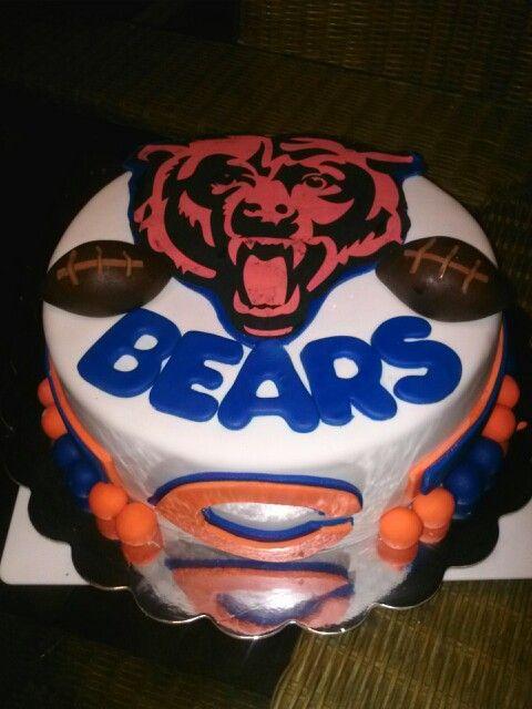3f154973b6ee6e9fba8cd9f92d062af4 chicago bears cake bear cakes 134 best chicago bears! bear down!! images on pinterest bears