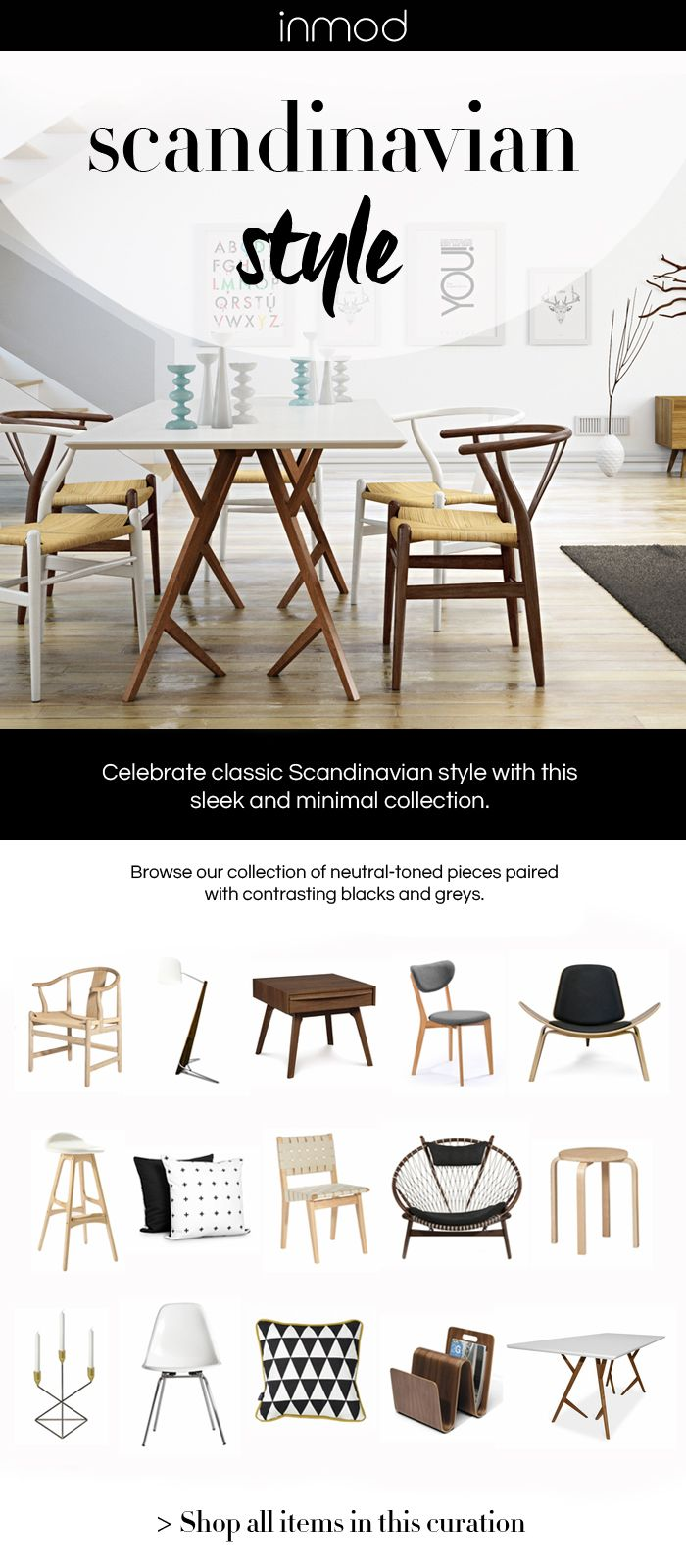 Modern owes so much to Scandinavian design. The beauty of Scandinavian design, at its core, is simplistic minimalism - elegant but understated lines and forms that define intent and function. Shop Inmod's favorite Scandinavian & Scandinavian-inspired furniture, lighting & decor.